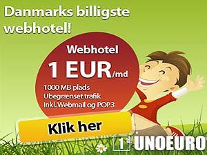 Bedste webhotel - Unoeuro